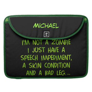 おもしろいなゾンビないゾンビの緑 MacBook PROスリーブ