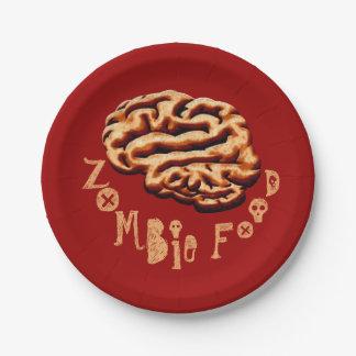 おもしろいなゾンビの食糧ハローウィンパーティ 紙皿 小