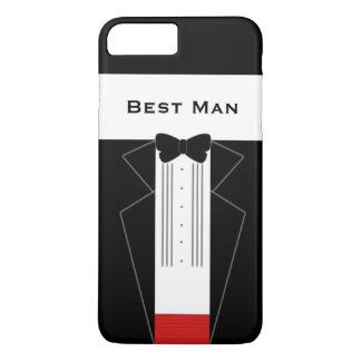 おもしろいなタキシードの花婿介添人の結婚式 iPhone 8 PLUS/7 PLUSケース