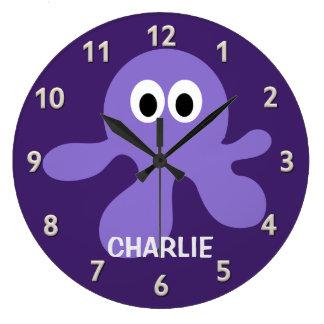 おもしろいなタコのカスタムな柱時計 ラージ壁時計