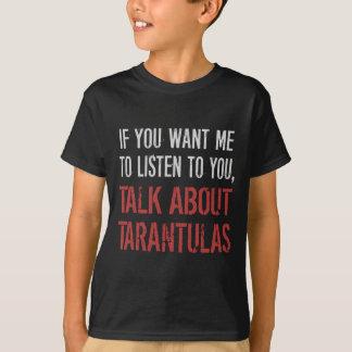 おもしろいなタランチュラのTシャツ Tシャツ