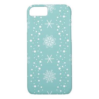 おもしろいなターコイズの雪片パターン iPhone 8/7ケース