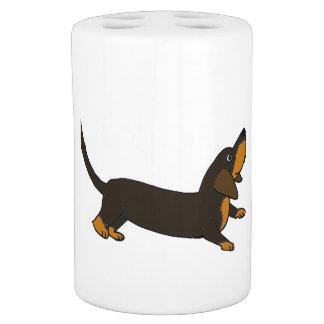 おもしろいなダックスフントのよくはしゃぐな小犬 バスセット