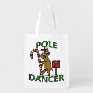おもしろいなダンサーのクリスマスのトナカイのしゃれ エコバッグ
