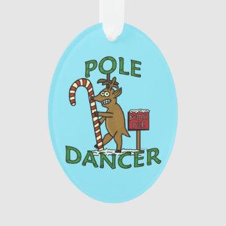 おもしろいなダンサーのクリスマスのトナカイのしゃれ オーナメント