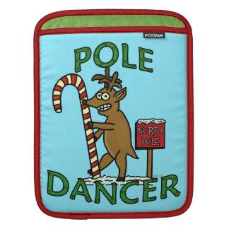 おもしろいなダンサーのクリスマスのトナカイのしゃれ iPadスリーブ