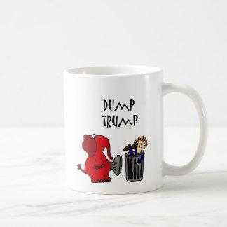 おもしろいなダンプの切札の政治漫画の芸術 コーヒーマグカップ