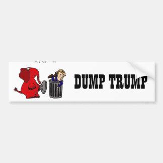 おもしろいなダンプの切札の政治漫画の芸術 バンパーステッカー