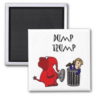 おもしろいなダンプの切札の政治漫画 マグネット
