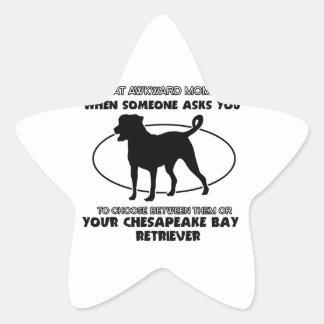 おもしろいなチェサピーク・ベイ・レトリーバーのデザイン 星シール