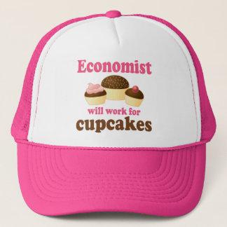 おもしろいなチョコレートカップケーキの経済学者 キャップ