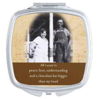 おもしろいなチョコレート引用文のコンパクトの鏡
