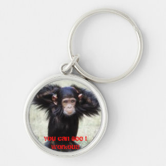 おもしろいなチンパンジーのキーホルダー キーホルダー