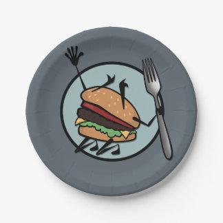 おもしろいなチーズバーガーの紙皿 ペーパープレート