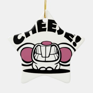おもしろいなチーズマウス セラミックオーナメント