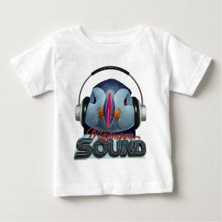 おもしろいなツノメドリDJ ベビーTシャツ