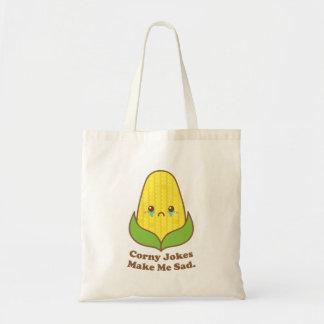 おもしろいなトウモロコシは、時代遅れの冗談私を悲しくさせます トートバッグ