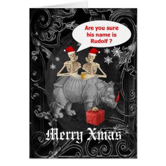 おもしろいなトナカイのゴシック様式クリスマス カード