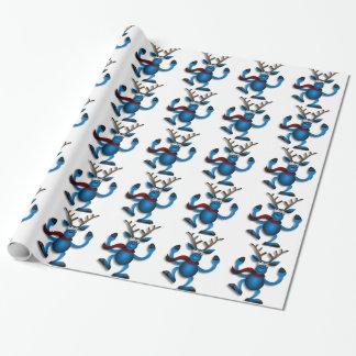 おもしろいなトナカイの包装紙 ラッピングペーパー