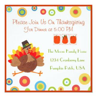 おもしろいなトルコの感謝祭の夕食-招待状 カード