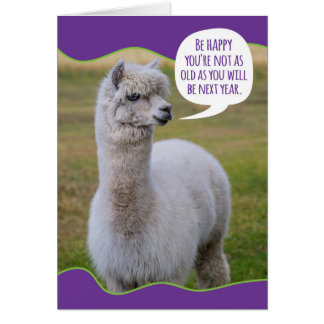 おもしろいなトロッコのラマの誕生日の知恵 カード