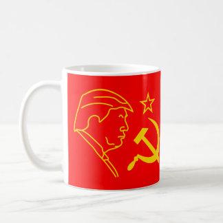 おもしろいなドナルド・トランプのプロフィールのソ連国旗 コーヒーマグカップ