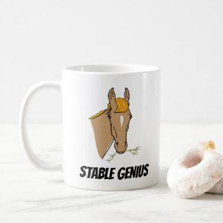 おもしろいなドナルド・トランプの安定した天才馬 コーヒーマグカップ