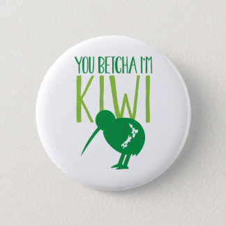 おもしろいなニュージーランドBETCHYA私はキーウィの鳥です 5.7CM 丸型バッジ