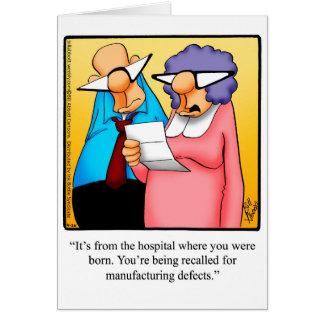 おもしろいなハッピーバースデーの挨拶状 カード