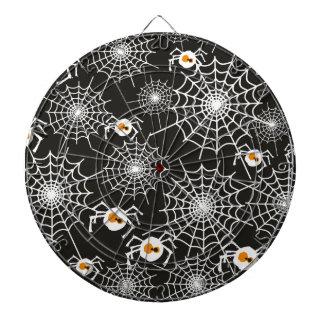 おもしろいなハロウィンのくもおよびくもの巣パターン ダーツボード