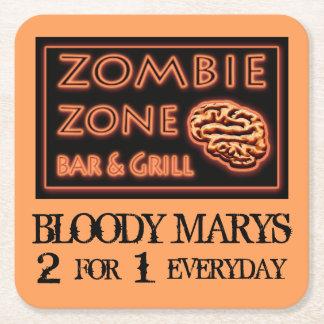 おもしろいなハロウィンのゾンビの地帯の血Marys スクエアペーパーコースター