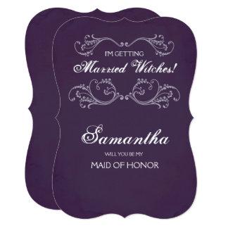 おもしろいなハロウィンの新婦付添人の提案の招待の~ カード