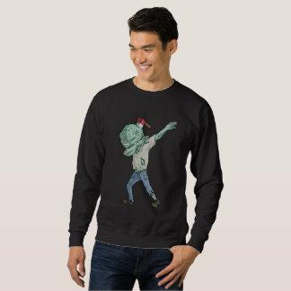 おもしろいなハロウィンの軽打のダンスを軽く押えているゾンビ スウェットシャツ