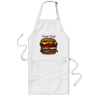 おもしろいなハンバーガーのエプロン ロングエプロン