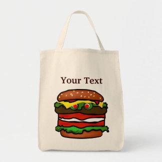 おもしろいなハンバーガーの食料雑貨のトートバック トートバッグ