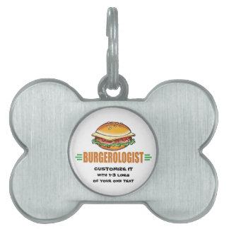 おもしろいなハンバーガー ペットネームタグ
