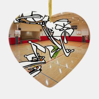 おもしろいなバスケットボールの印象 セラミックオーナメント
