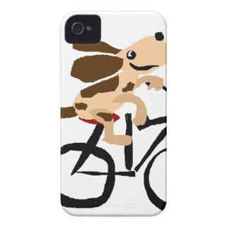 おもしろいなバセットハウンドの乗馬の自転車 Case-Mate iPhone 4 ケース