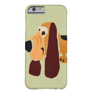 おもしろいなバセットハウンドの原住民の芸術 iPhone 6 ベアリーゼアケース