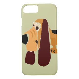おもしろいなバセットハウンドの原住民の芸術 iPhone 7ケース