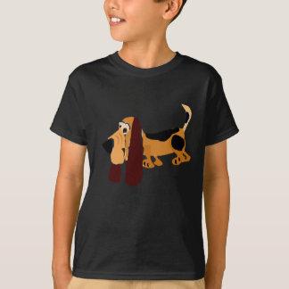 おもしろいなバセットハウンドの原住民の芸術 Tシャツ