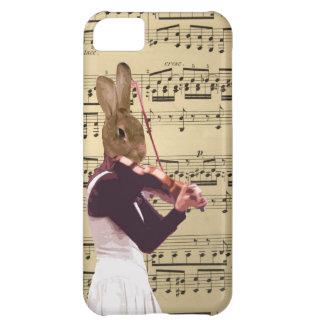 おもしろいなバニーウサギのバイオリン奏者 iPhone5Cケース
