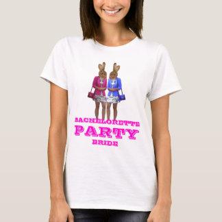 おもしろいなバニー女の子のバチェロレッテ Tシャツ