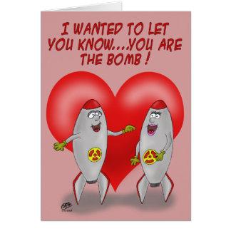 おもしろいなバレンタインカード: 爆弾です カード