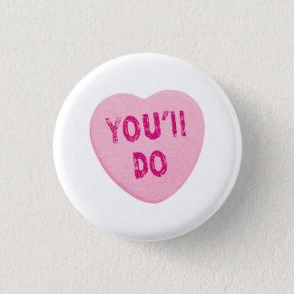 おもしろいなバレンタインデーのハートキャンデーをします 3.2CM 丸型バッジ