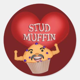おもしろいなバレンタインデーのマフィンのステッカー ラウンドシール