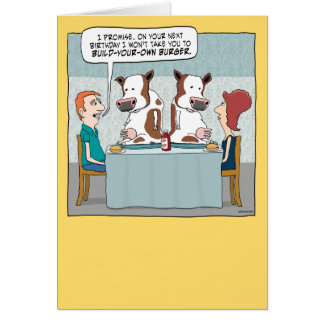 おもしろいなバースデー・カード: あなた自身のハンバーガーを造って下さい カード