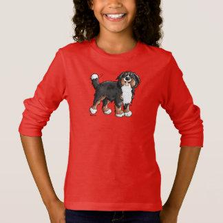おもしろいなバーニーズ・マウンテン・ドッグのフード付きスウェットシャツ Tシャツ