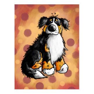 おもしろいなバーニーズ・マウンテン・ドッグの漫画の郵便はがき ポストカード