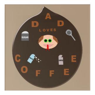 おもしろいなパパモンスターはコーヒーアクリルの壁の芸術を愛します アクリルウォールアート